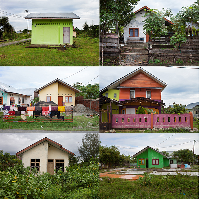New homes customized by their inhabitants, Banda Aceh, Indonesia.