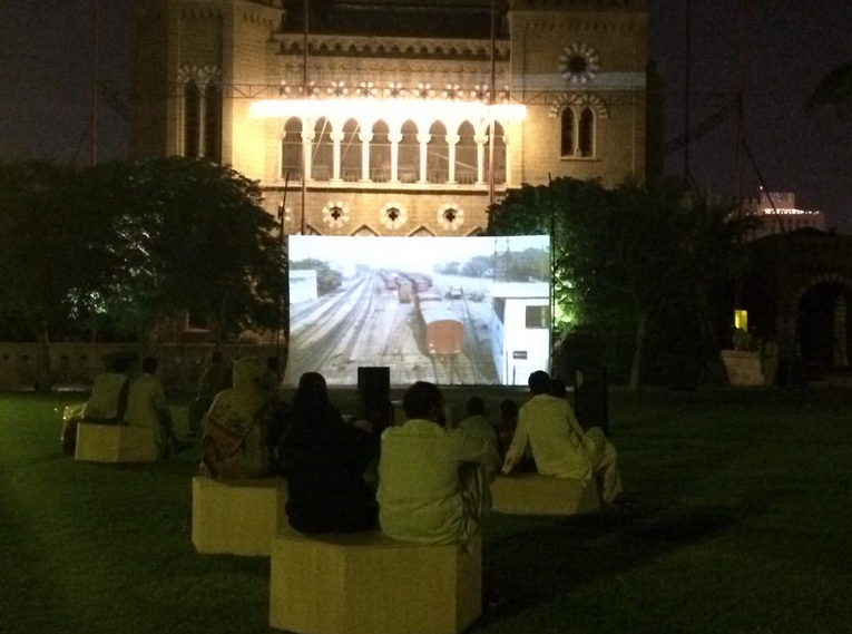 KCR screening at Frere Hall in central Karachi, April 2015.