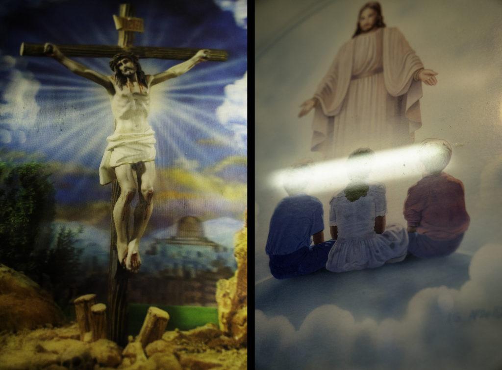 Lenticular Christ and Acrylic Christ