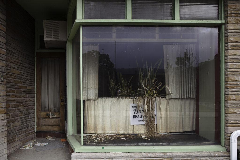 Closed Beauty Shop Facade, Reading PA, 2012